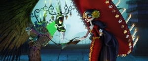 0500_0100_0144_beauty5K_v001 Xibalba (voiced by Ron Perlman), who rules The Land of the Forgotten, makes a fateful bet with his estranged wife La Muerte (voiced by Kate del Castillo), who oversees The Land of the Remembered.